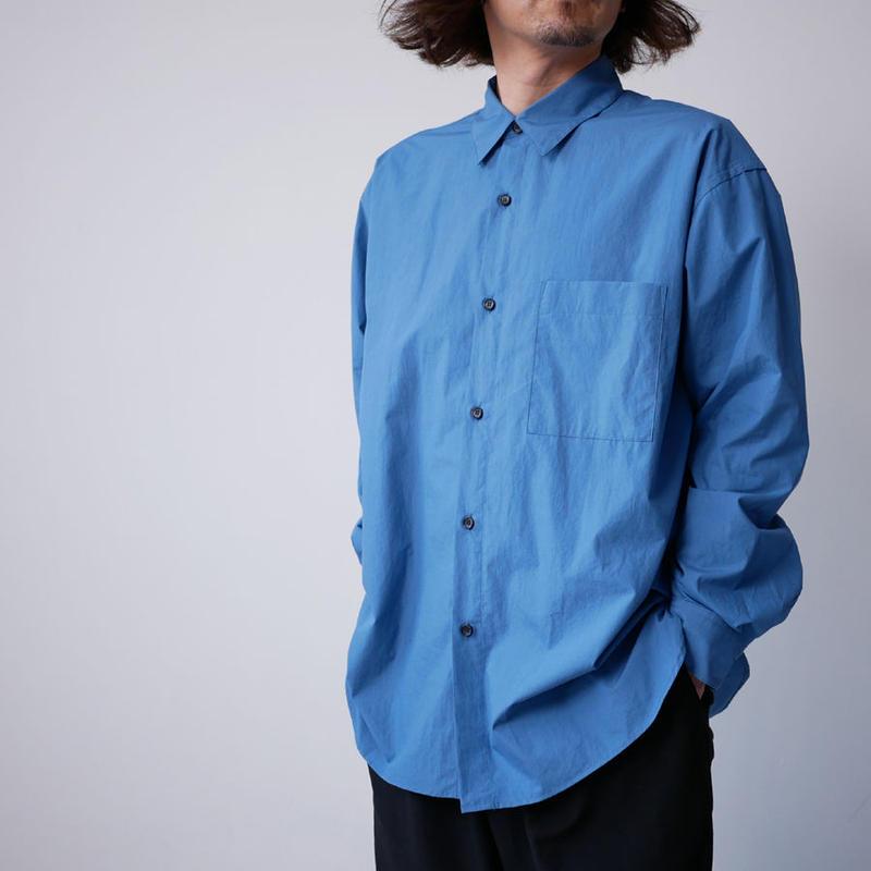 WIRROW|ウィロウ|タイプライターレギュラーカラーシャツ|size2、size3|DUSTY BLUE
