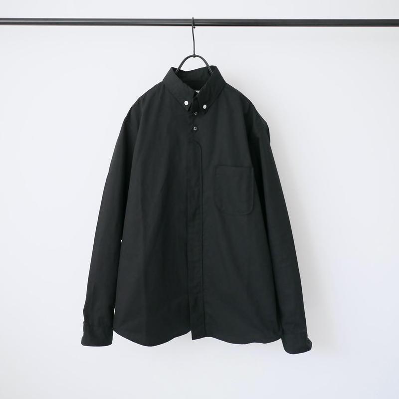 nisica |ニシカ |  オックス ボタンダウンシャツ |ブラック |NIS836SH