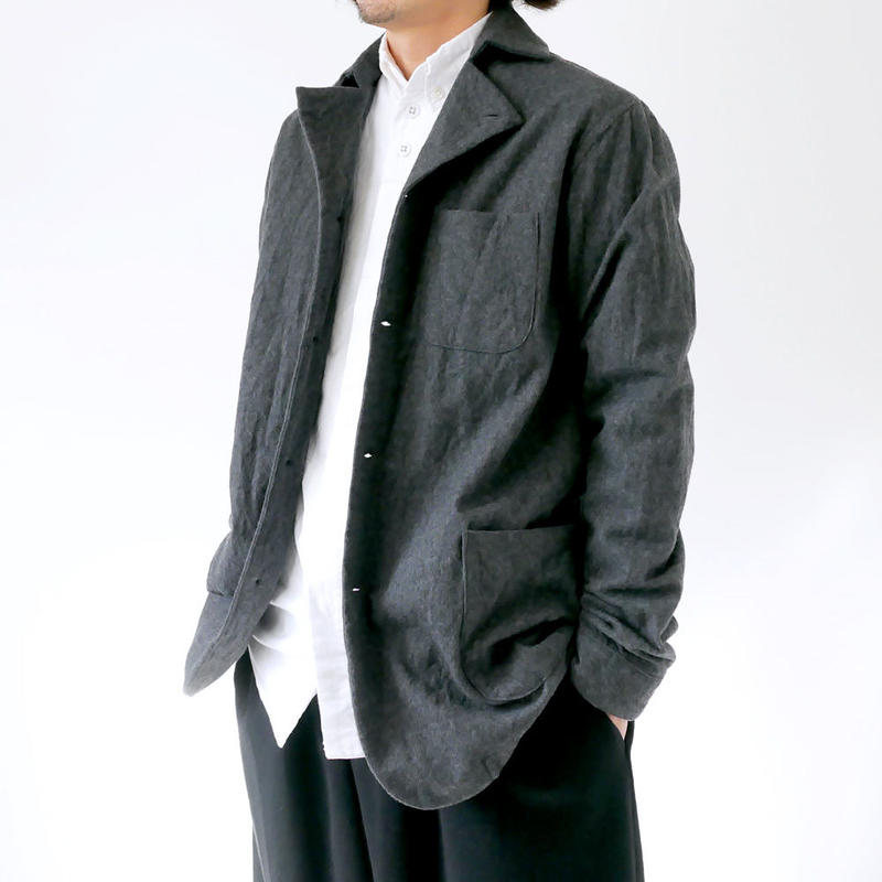 nisica|ニシカ |ウールシャツジャケット|NIS-843|グレー