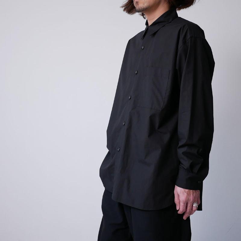 WIRROW|ウィロウ|タイプライターレギュラーカラーシャツ|size2、size3|BLACK