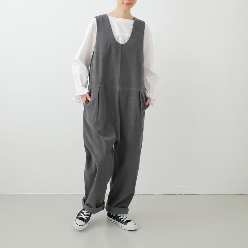 Si-Si-Si comfort|スースースーコンフォート|COVER ALLS サロペット|GREY|18-AW036