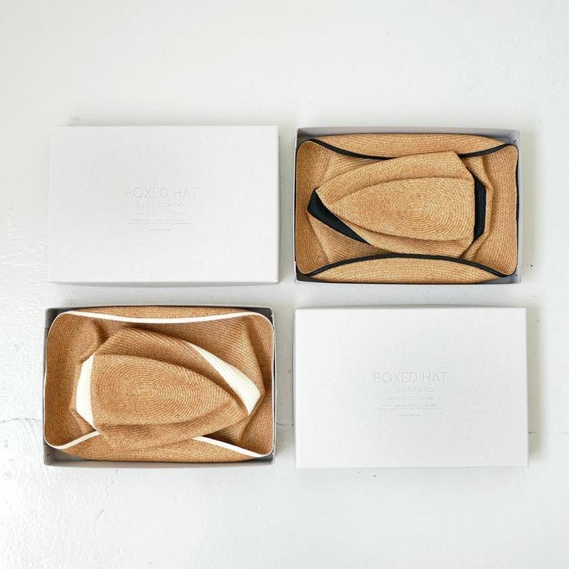 mature ha.| マチュアーハ | BOXED HAT 11cm brim switch color line wide ボックスハット