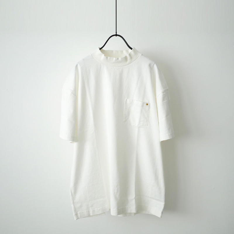 HARVESTY ハーベスティ | モックネックTシャツ |オフホワイト|A51702