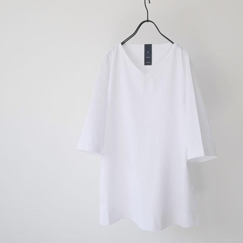 GOUACHE FUKUOKA|ガッシュ|Vネックハーフスリーブカットソー|Tシャツ|WHITE|メンズ