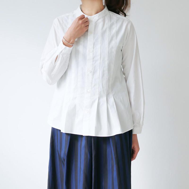 BLUE BLUE JAPAN|ブルーブルージャパン|ブロード タックシャツ  |WHITE|700073524