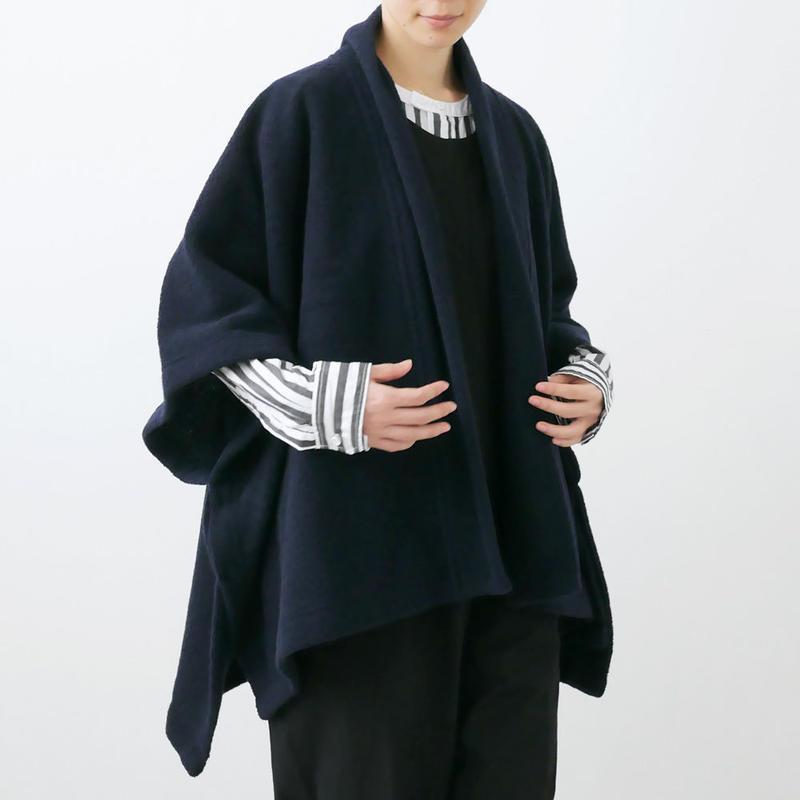 SI-HIRAI スーヒライ   SQUARE CAPE ポンチョ  NAVY CHAW18-3819 FINE PILE