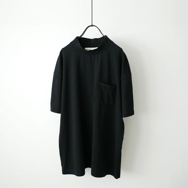 HARVESTY ハーベスティ | モックネックTシャツ |ブラック|A51702