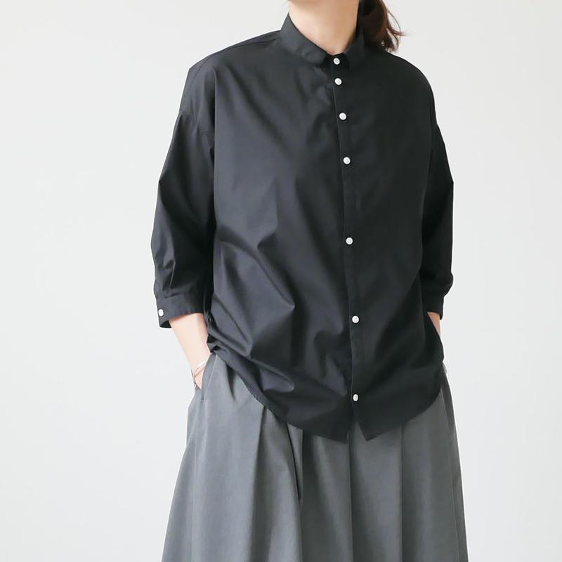 NO CONTROL AIR|ノーコントロールエアーTCメランジバチストシャツ|BLACK|S9-NC063SF