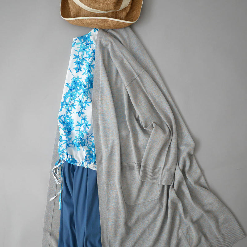 SACRA  サクラ  MIX COLOR YARN ロングカーディガン BLUE 118230011