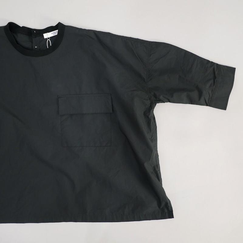 UNIVERSAL TISSU ユニヴァーサルティシュ|タイプライターリブネックワイドシャツ|UT181SH005|クロ