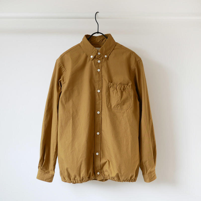 nisica ニシカ  リップストップギャザーシャツ  NIS-841-SH キャメル