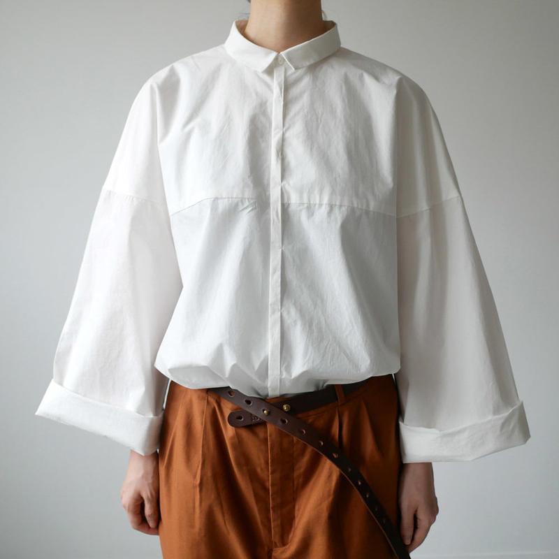 THE FACTORY  ザ・ファクトリー  タイプライター ビッグスリーブシャツ WHITE TF18SS-0103