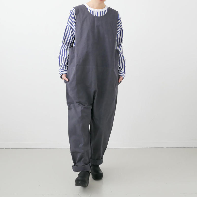Si-Si-Si comfort|スースースーコンフォート  |COVER ALLS サロペット|GREY|19-SS030DP