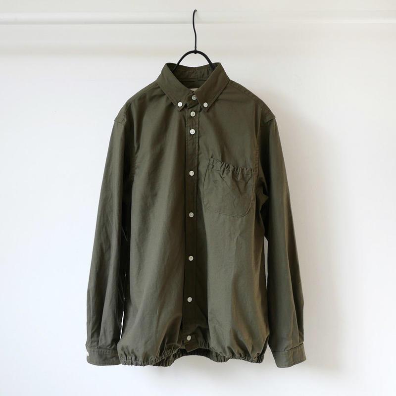 nisica|ニシカ |リップストップギャザーシャツ |NIS-841-SH|カーキ