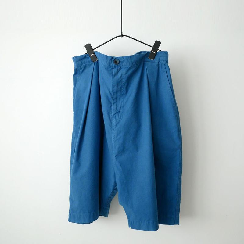 BLUE BLUE JAPAN |ブルーブルージャパン|ムラポプリン テゾメウエアアウト バルーンショーツ|BLUE|700073597