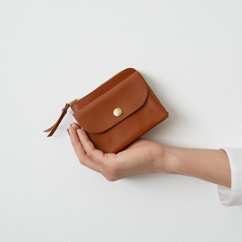CINQ  小さめの財布 CAMEL
