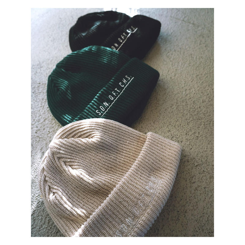 SON OF THE CHEESE「SOTC wave knit cap」