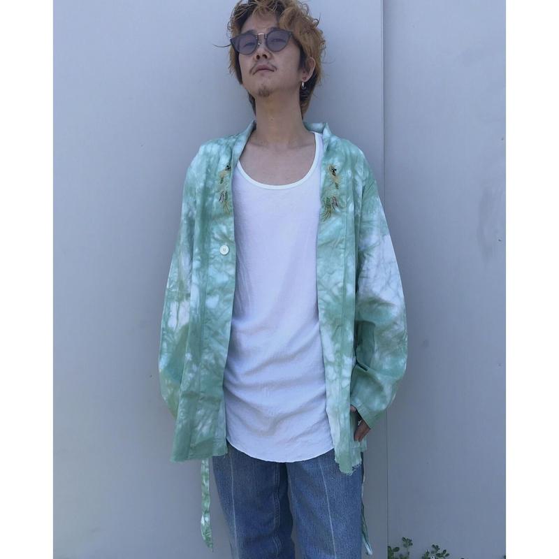 Black Weirdos × THE NEW ORDER「Tie Dye Short Gown Coat」beige