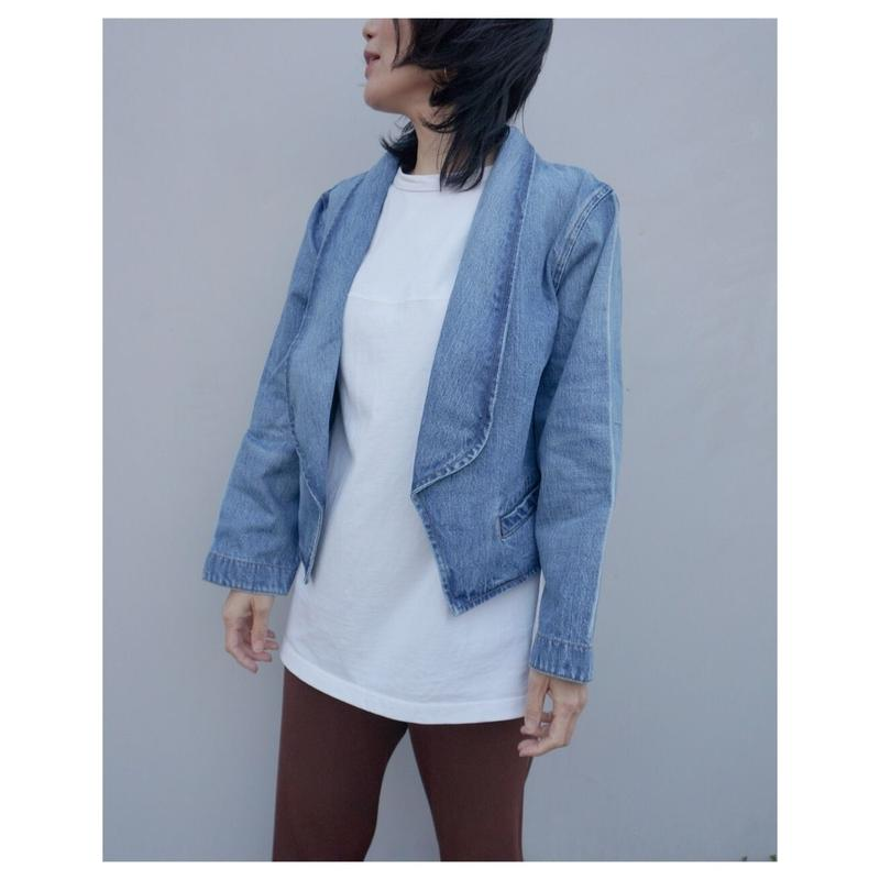 STA-WEST'S 「STA-SHAWL JACKET DENIM」