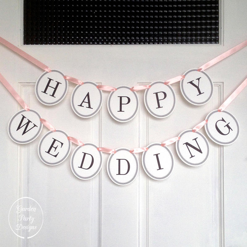 HAPPY WEDDING * Garland