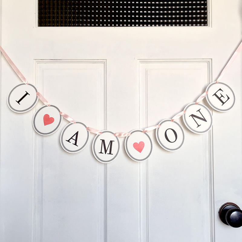 I ♡ AM ♡ ONE * Garland