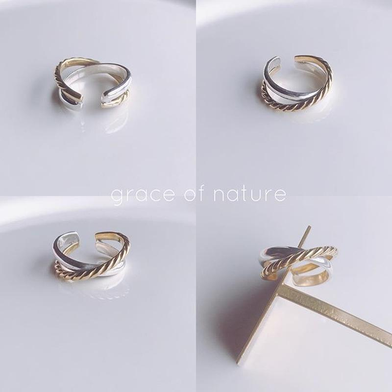 silver &gold ring