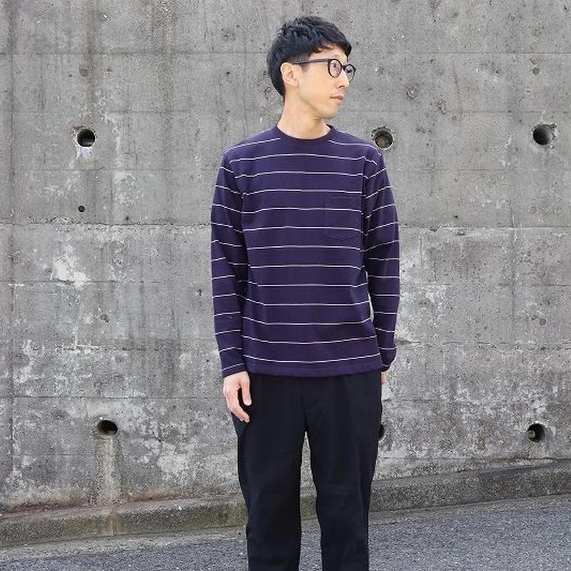 NECESSARY OR UNNECESSARY(ユニセックス) / BORDER L/S TEE ボーダー長袖Tシャツ