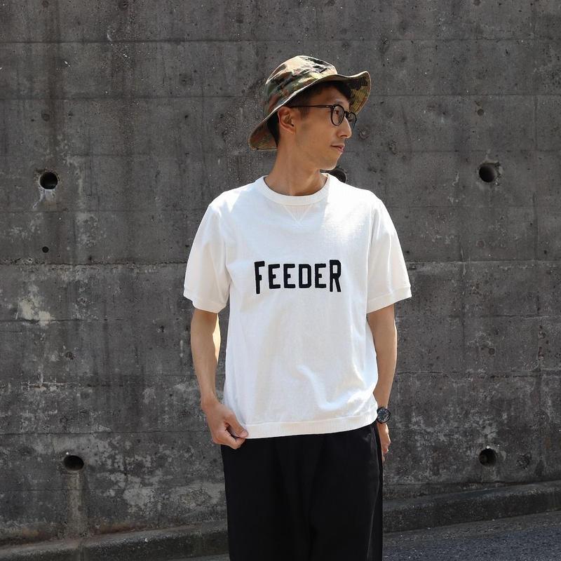 JACKMAN ジャックマン(ユニセックス) / RIB TEE リブ半袖Tシャツ【刺繍ロゴ / FEEDER】