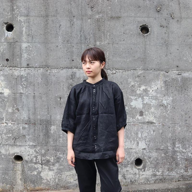 Brocante ブロカント(レディース) / グランレデューシャツ【ブラックリネン】