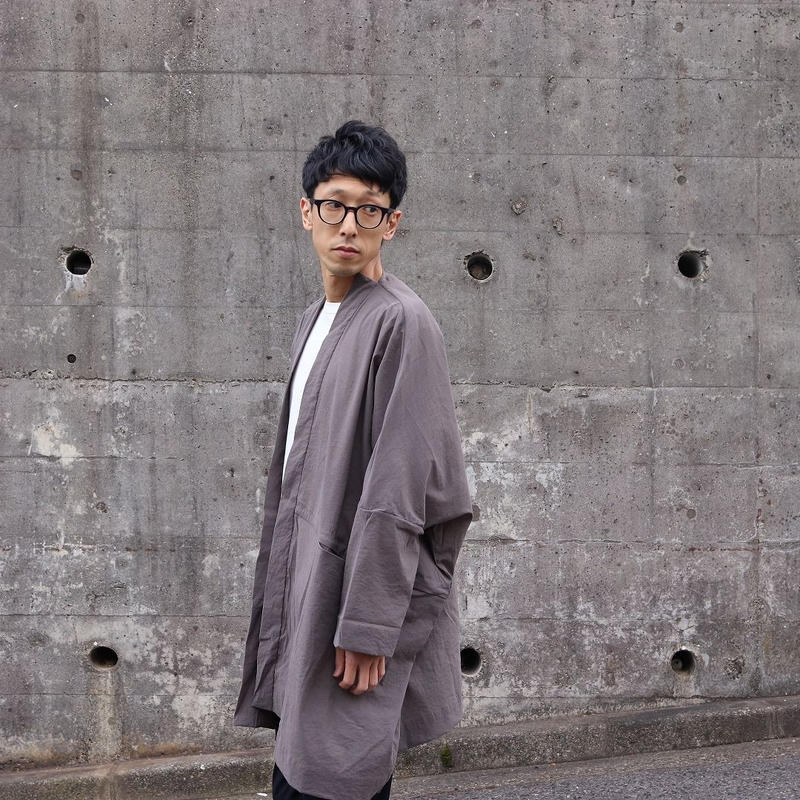 BASISBROEK (ユニセックス)  / JANE ストレッチワイドシルエットコート 【ダスト / SIZE 2】