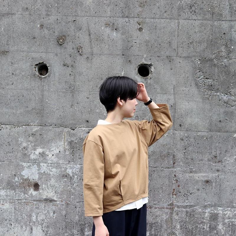 KHA;KI (レディース)  / HEM TUCK BASQUE SHIRTS ヘムタックバスクシャツ
