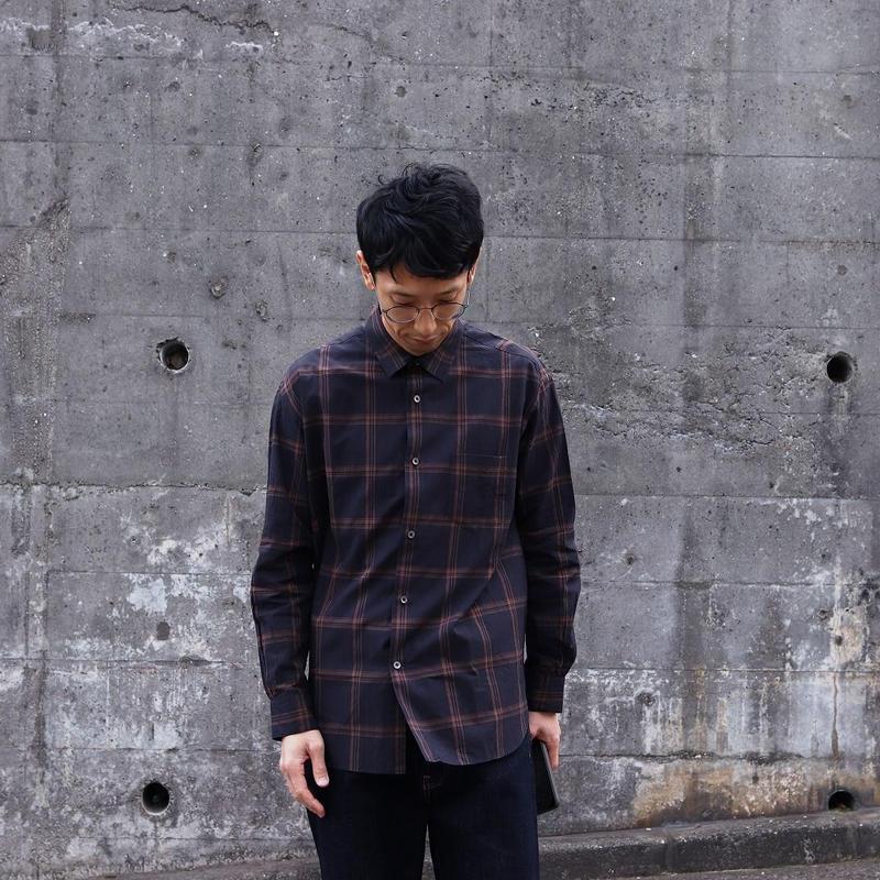 maillot (ユニセックス)  / マチュア DARK CHECK SHIRTS ダークチェックシャツ
