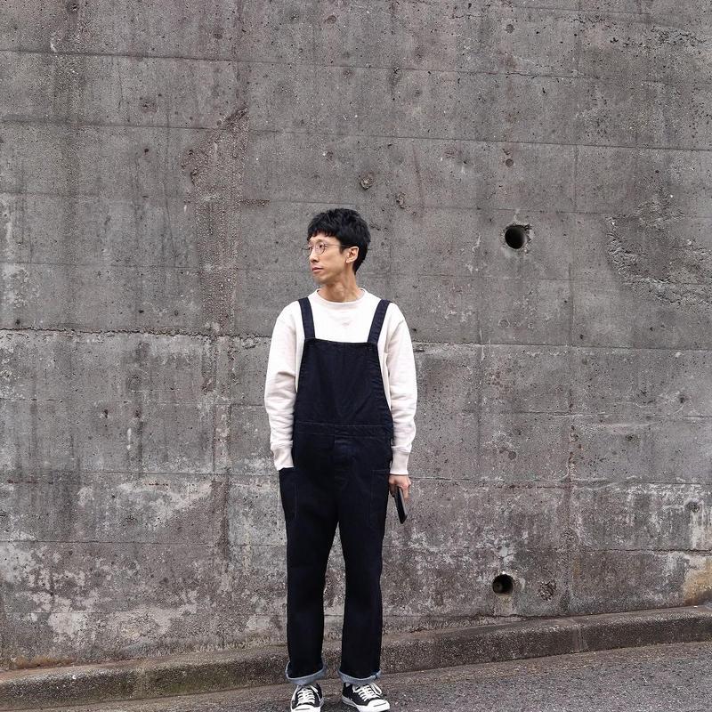 HATSKI(ユニセックス) / OVER ALL オーバーオール【ワンウォッシュ】
