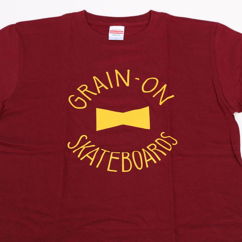 GRAIN-ON Logo T-shirt/Burgundy