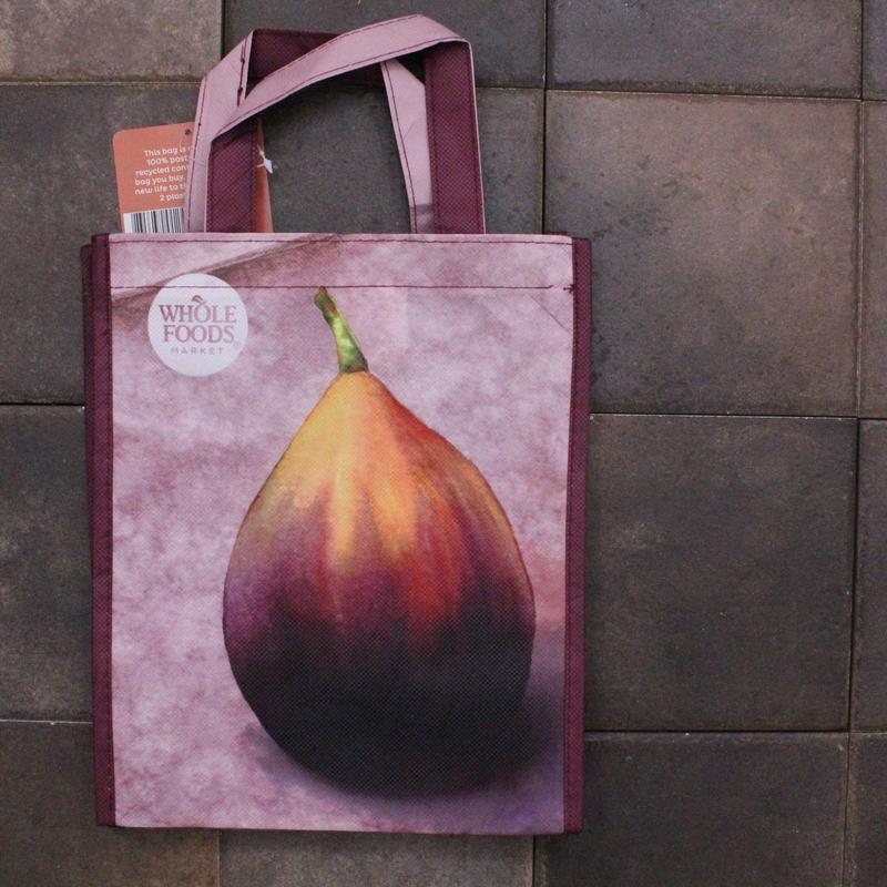 PRINTED TOTE FIG[S] / WHOLE FOODS