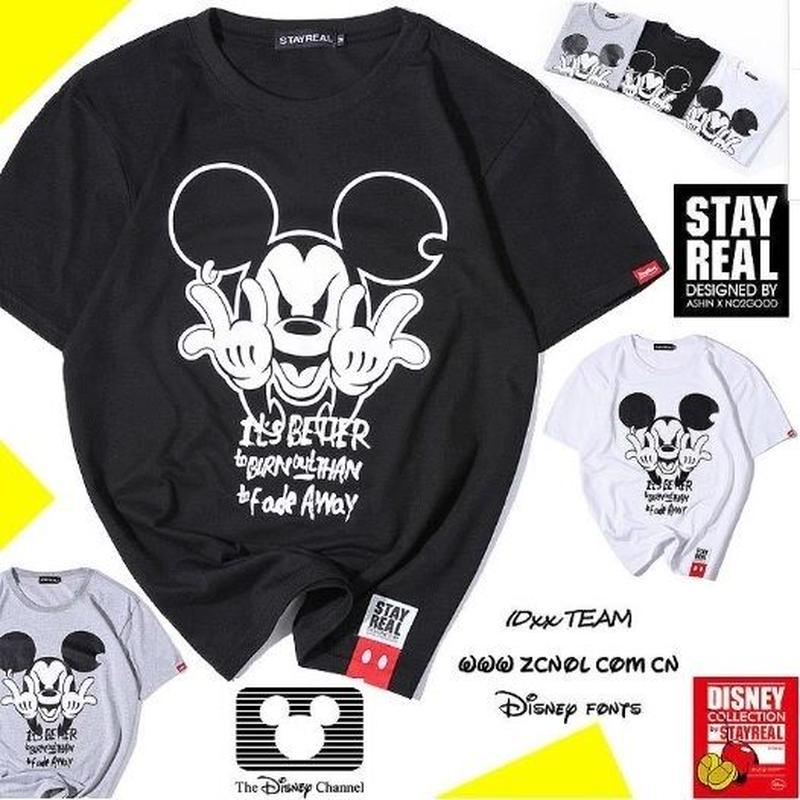 STAY REAL ミッキーマウス Tシャツ