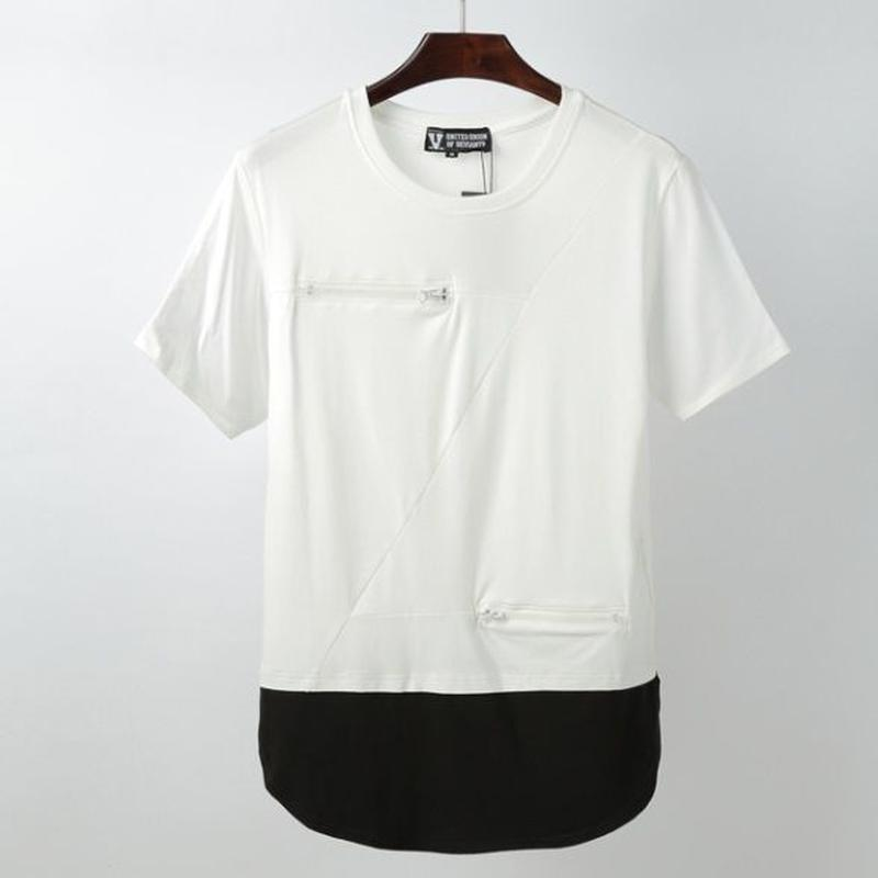 2色レイヤード カットソー/Tシャツ