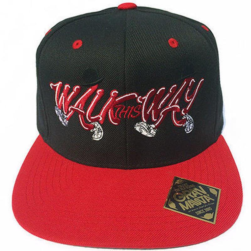 WalkThisWay スナップバックCAP(RED/BLACK)