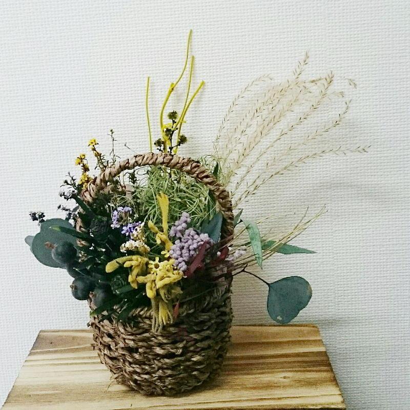 送料込み!観葉植物のように飾れるおしゃれな花のインテリア 長持ちする花 ギフトにも ドライフラワーアレンジ DIY可能!