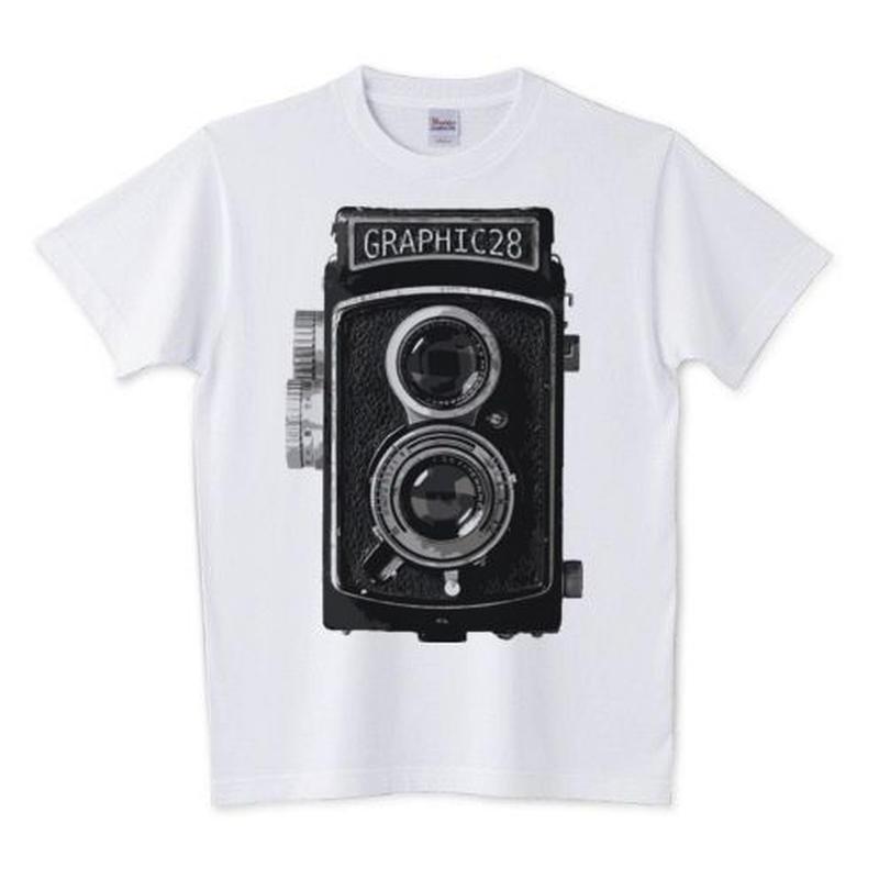 レトロカメラTシャツ(二眼レフ)