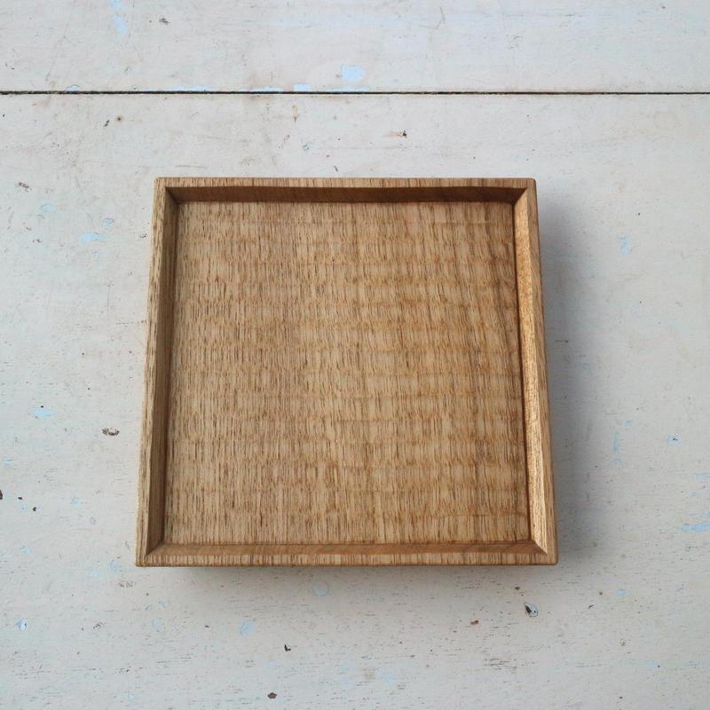 5寸角皿・オニグルミ /    加賀雅之