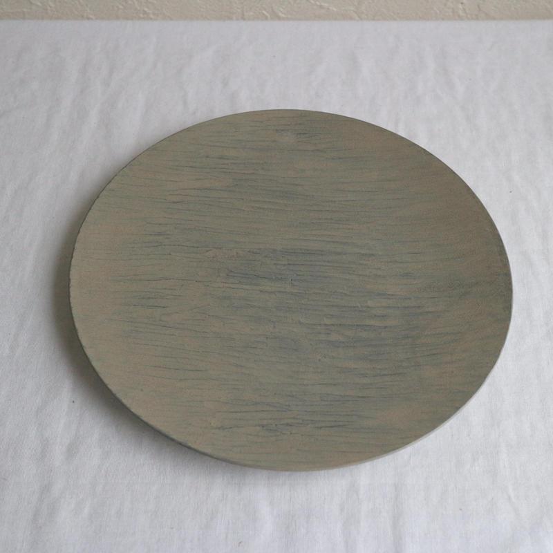 丸皿(漆グレー) / 湯浅ロベルト淳