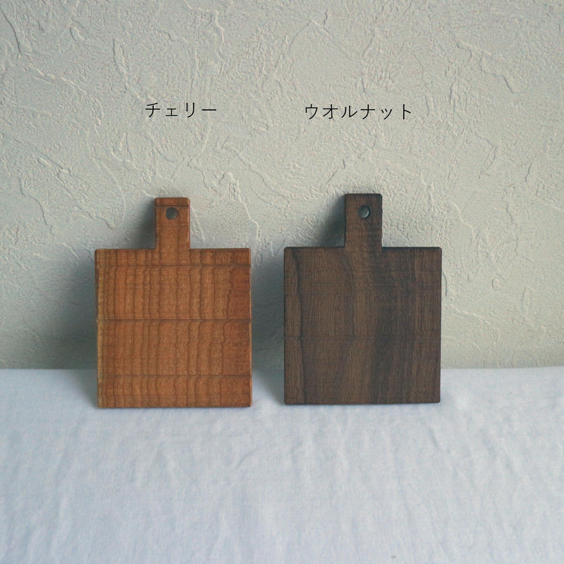 木のコースター四角B/湯浅ロベルト淳