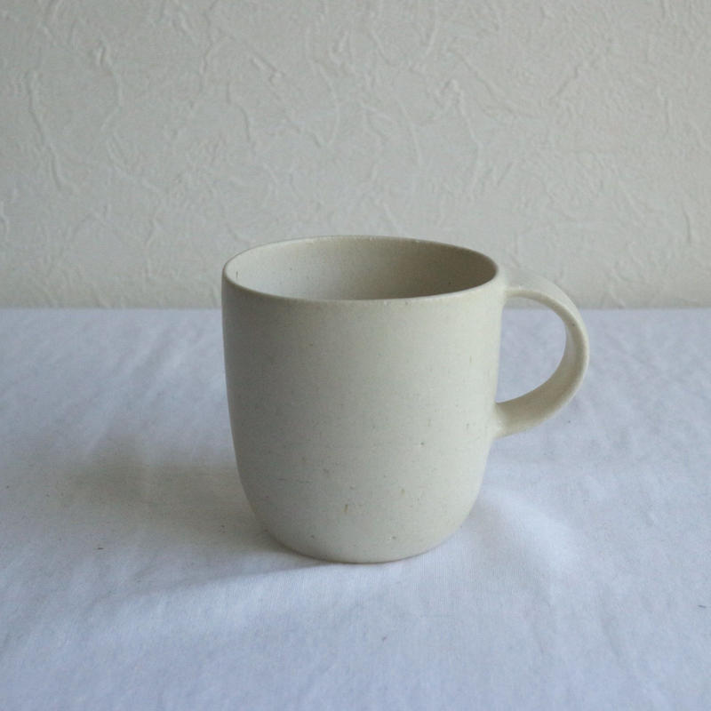 マグカップ大1アイボリー / 寺嶋綾子