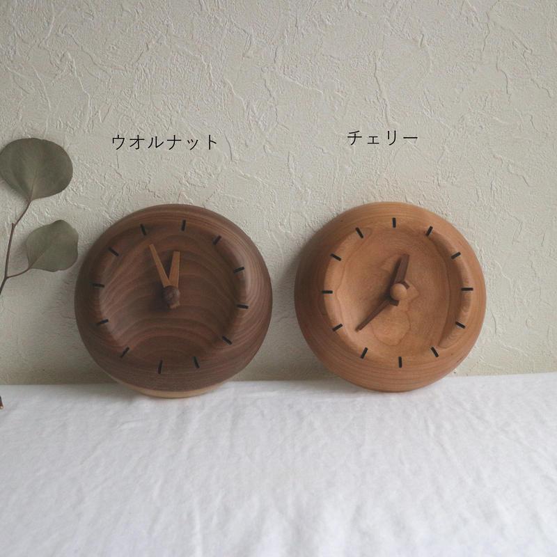 時計チェリー・ウオルナット(彫なし) / 湯浅ロベルト淳