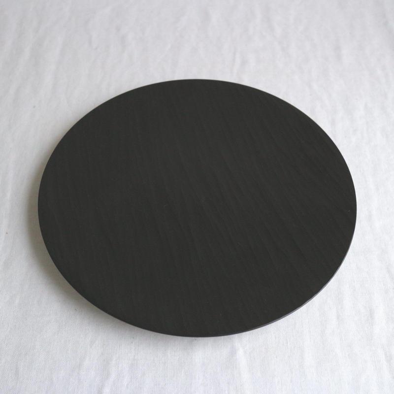 丸皿(漆黒) / 湯浅ロベルト淳