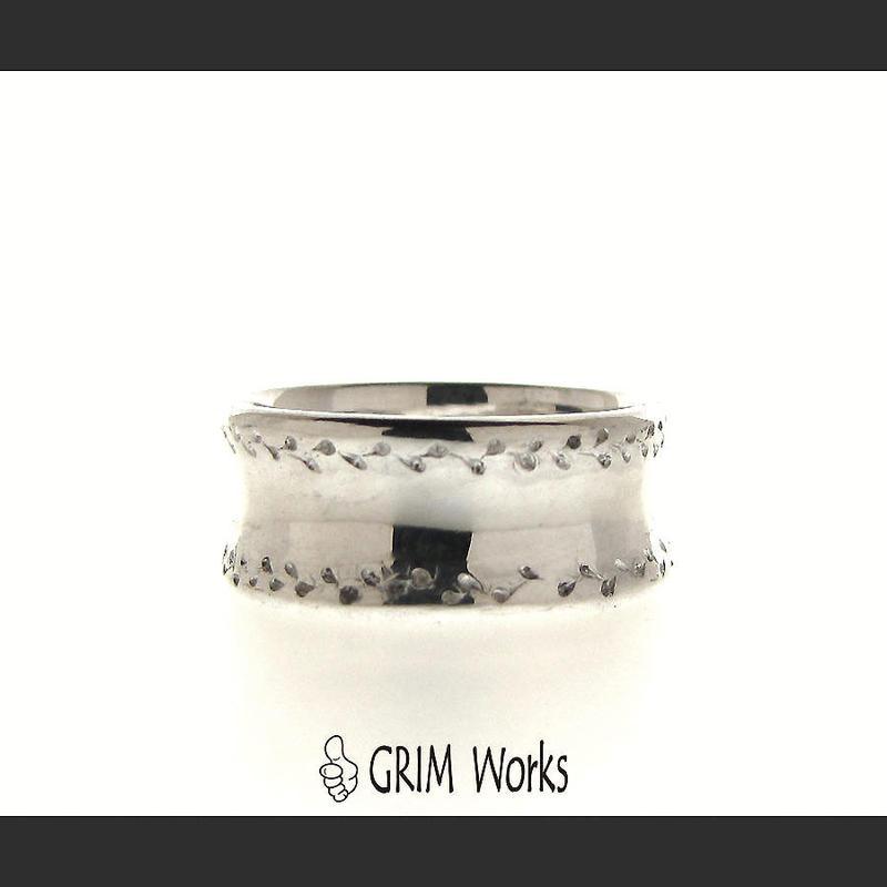 GRIM Works 1点物 逆甲丸デザインリング SV925
