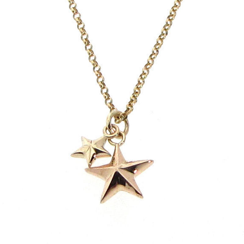 Two colors Star  k10  ネックレス