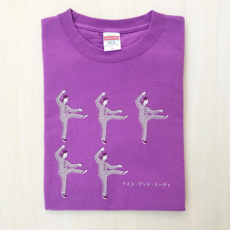 太極拳ガールTシャツ_分脚_Lavender / Gray