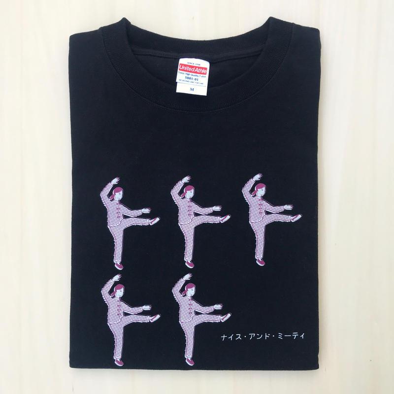 太極拳ガールTシャツ_Black / Gray